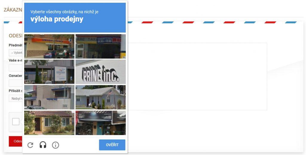 Obrázkový captcha test
